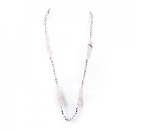 VIS Moment, 50x Zagora - Rose Pink Crystal Bracelet Necklace RRP-£1170