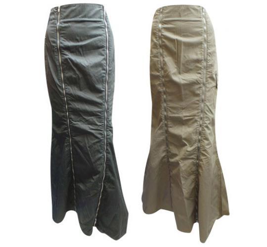 Wholesale Joblot of 8 Oakley Ladies Veil Long Skirts Black and Khaki