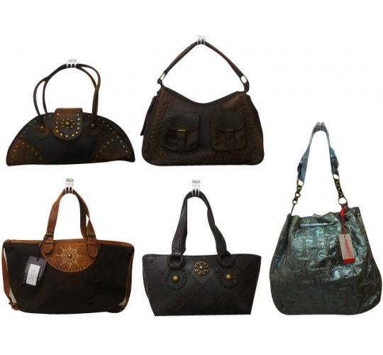 Wholesale Joblot of 10 Ladies Leather Bags Various Different Styles