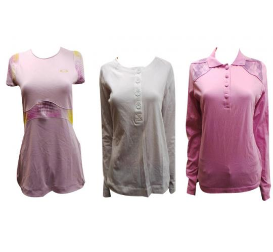 Wholesale Joblot of 10 Oakley Ladies Tops Assorted Styles Sizes 6-14