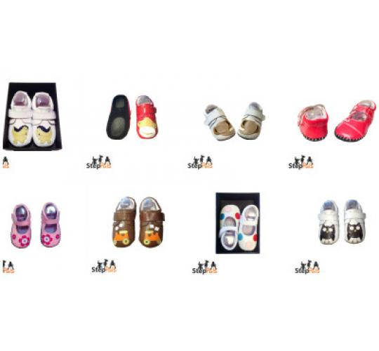 JOBLOT OF 80 PAIRS GENUINE LEATHER BABY SHOES