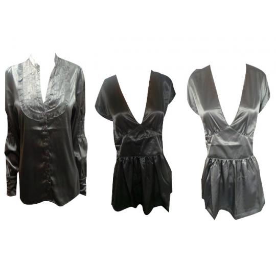 Wholesale Joblot of 10 Ladies Tg Blouses Mostly Grey and Black Mix of Sizes