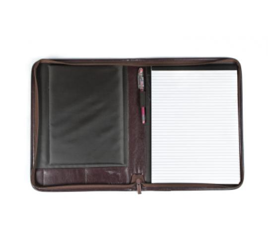 40 x A4 Zipped Folio With Ipad Pocket Black