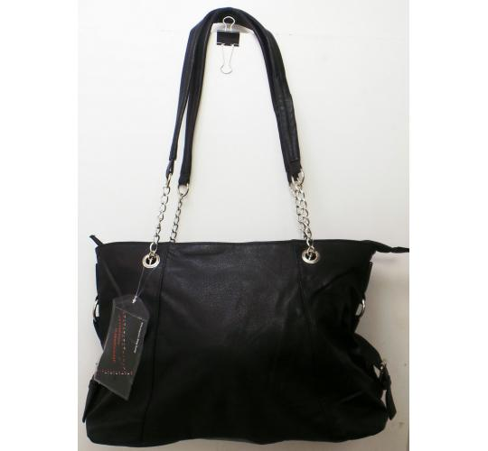 Wholesale Joblot Of 10 Ladies Black Faux Leather Bags With A Chain Strap
