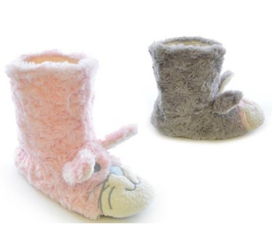 Clearance parcels of 24 Girls Bunny Rabbit Plush Bootee -FT0494
