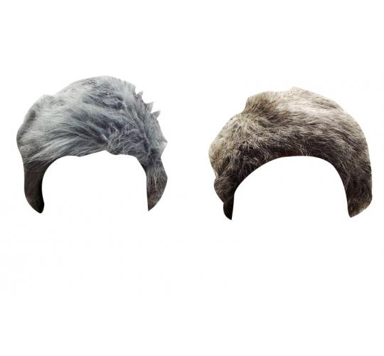 Wholesale Joblot of 20 Ladies Russian Pill Box Faux Fur Hats Grey and Blue