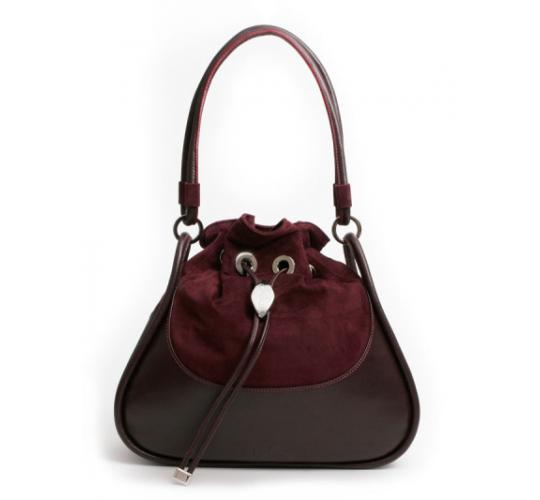Amberley Burgundy leather and Suede handbags