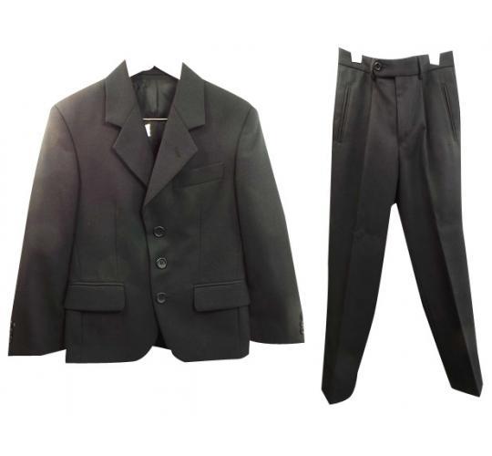Wholesale Joblot of 4 Boys Varteks International Black Lounge Suits Ex Hire 300
