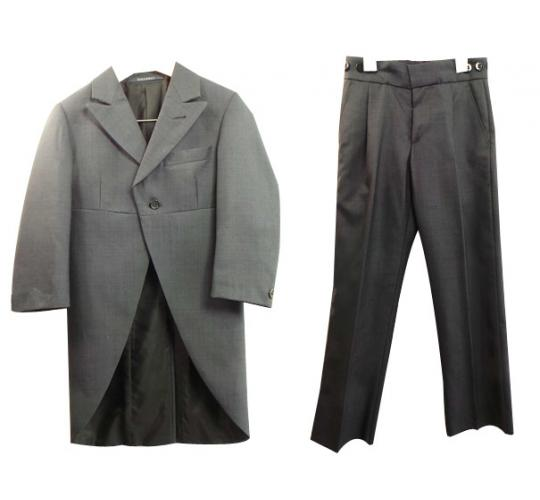 One Off Joblot of 5 Boys Wilvorst Grey Morning Tail 3 Piece Suits Ex Hire 299