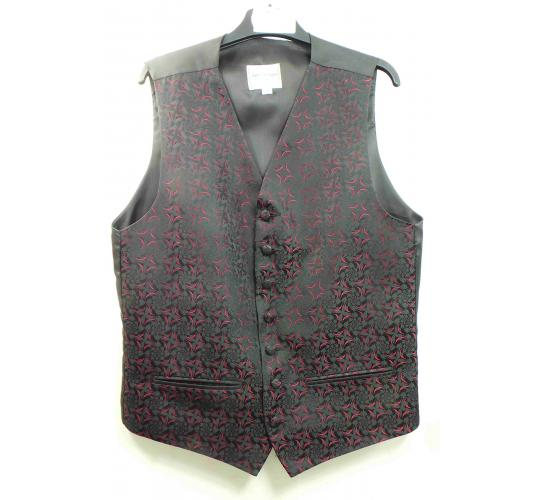 One Off Joblot of 7 Boys/Teens Red On Black Waistcoats Ex Wedding Hire 13