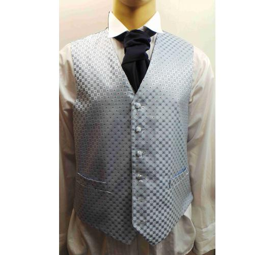 Wholesale Joblot of 5 Mens Blue Chequered Waistcoats Ex Wedding Hire 19