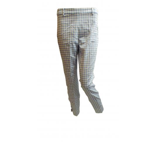 Wholesale Joblot of 10 Ladies De-Branded Blue & White Chequered Kanta Trousers
