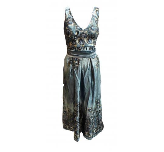 One Off Joblot of 10 Ladies ALC Long Grey Peacock Feather Dresses