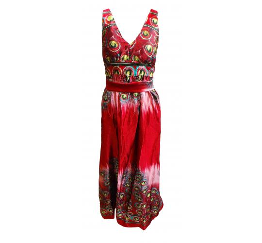 One Off Joblot of 10 Ladies ALC Red Maxi Peacock Feather Dresses