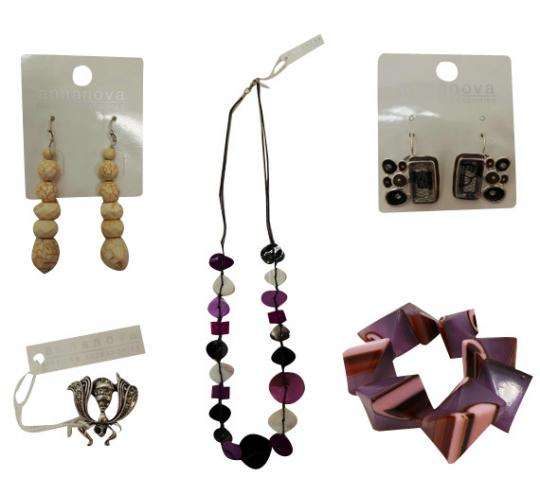 One Off Joblot of 44 Anna Nova Mixed Items Necklaces Bracelets Rings & More