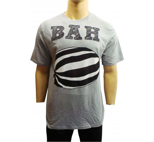 One Off Joblot of 10 Mens Grey BAH Humbug Print T-Shirts Size Large