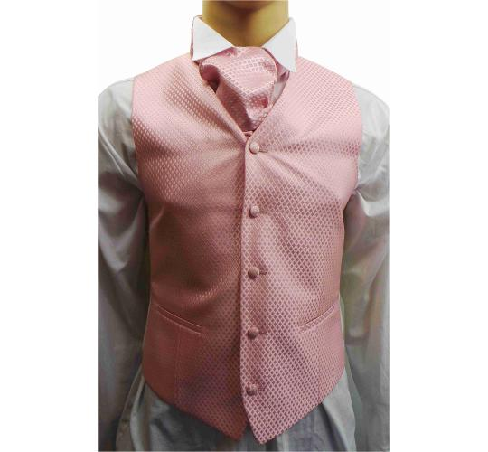 Wholesale Joblot of 5 Mens Wilvorst Pink Lattice Waistcoats Ex Wedding Hire 32