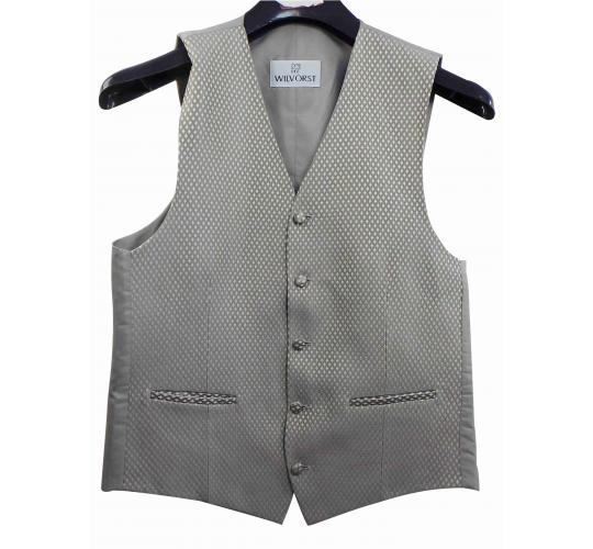 Wholesale Joblot of 7 Mens Wilvorst Silver Lattice Waistcoats Ex Hire 30
