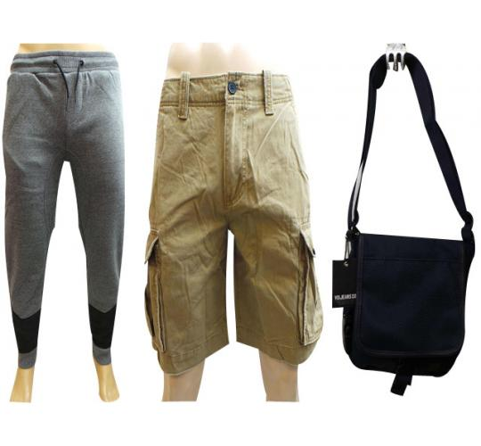 One Off Joblot of 7 Mens Trousers Shorts & Bags Voi & American Eagle