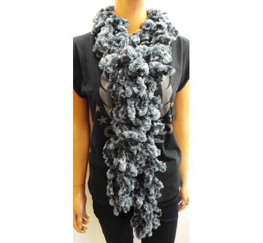 Wholesale Joblot of 50 Ladies Black Tinsel Metallic Scarves