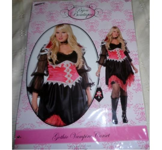 LOT OF 36 SMIFFY'S GOTHIC VAMPIRE CORSETS BIJOU BOUTIQUE BRAND NEW SIZE 1X