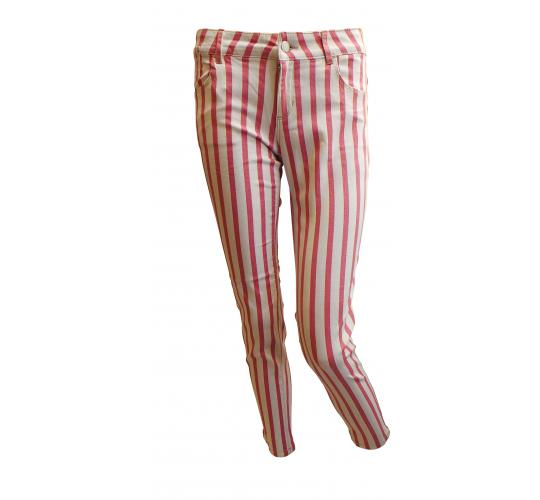 One Off Joblot of 16 Ladies De-Branded Pink Striped Trousers Size 12