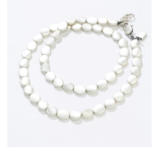 Antique finish flat bead jewellery set