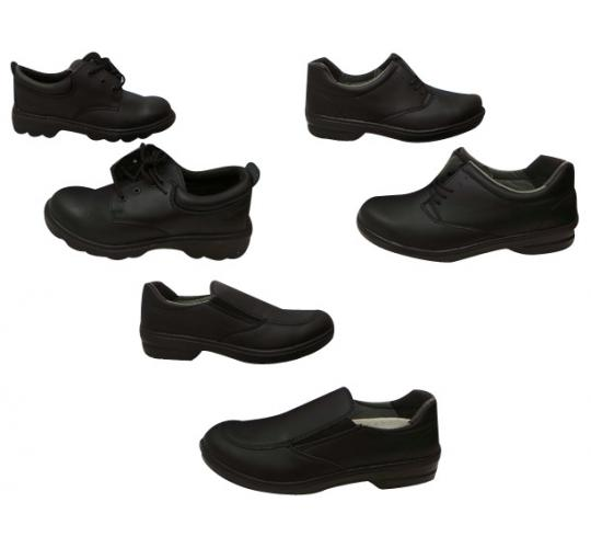 One Off Joblot of 7 Ladies Black High Quality Safety Shoes 3 Styles Sizes 3-8