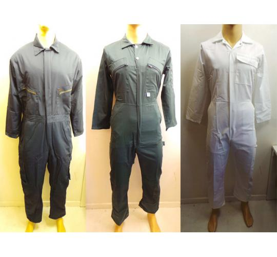 One Off Joblot of 5 Workwear Overalls 3 Styles From Click & Blue Castle