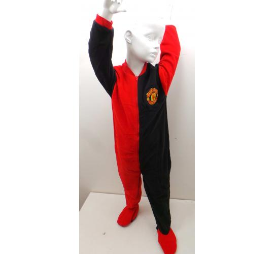 Wholesale Joblot of 25 Official Manchester United Childrens Onesie Black/Red