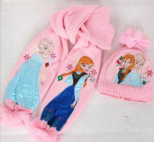 Frozen Elsa & Anna Hat Scarf Set