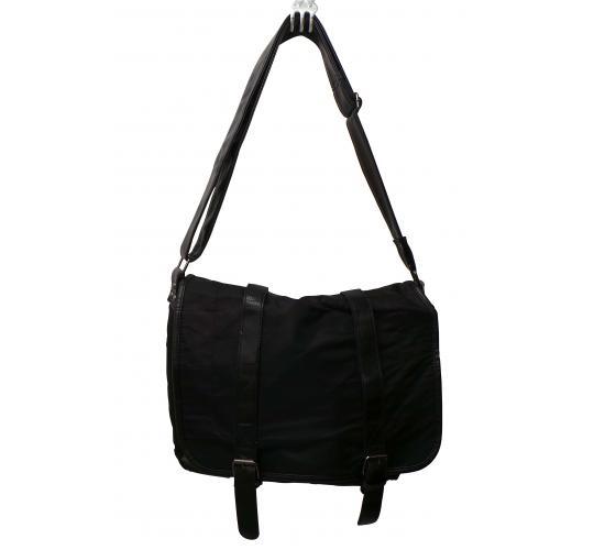 One Off Joblot of 15 Ladies Black Satchel Bags Canvas/Faux Leather