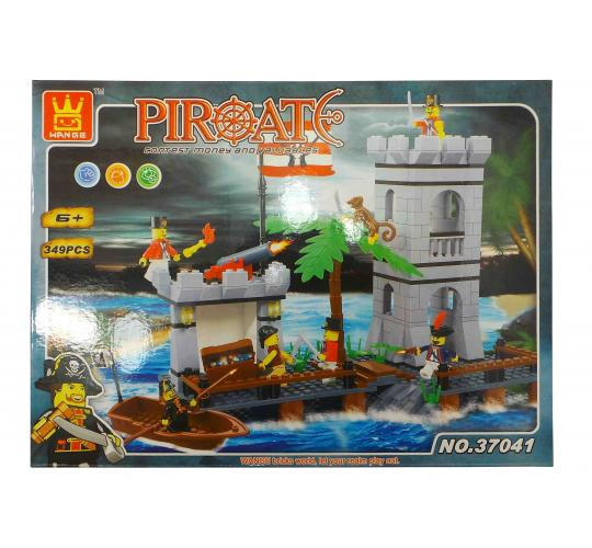 Wholesale Joblot of 12 Wange Childrens Pirate Themed Building Brick Sets