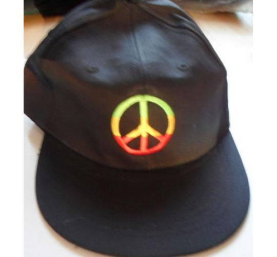 WHOLESALE JOB LOT x 30 PEACE SYMBOL, CND BASEBALL CAPS SUN HATS, BLACK,
