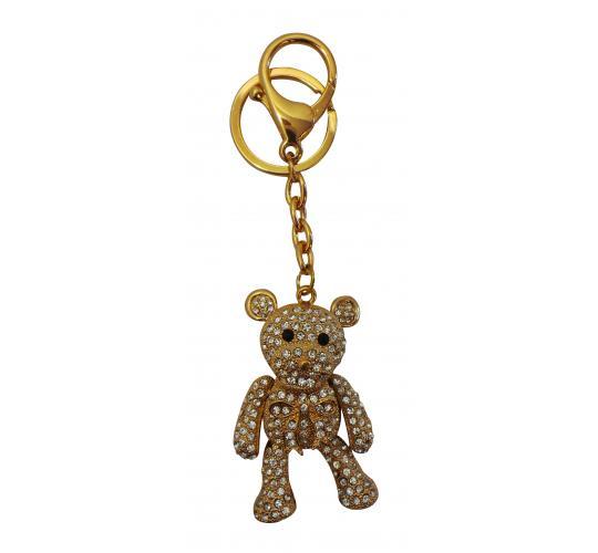 Wholesale Joblot of 10 Shimla Keychains Crystal Studded Golden Bears SH731