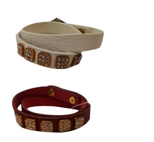 Wholesale Joblot of 30 Designsix Berlin Bracelets Silver/Ivory & Gold/Red 11402