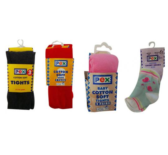 One Off Joblot of 99 Packs of Childrens Socks & Tights Assorted Styles & Sizes