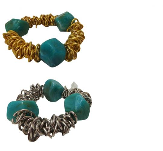 Wholesale Joblot of 30 Designsix Grange Bracelets Silver & Gold 11351
