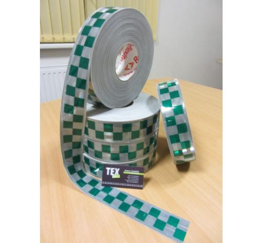 1000 meters Reflexite Green GP800 Checker Garment reflective tape