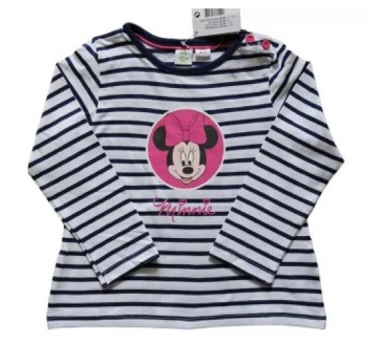 Job Lot's of 50 Disney Minnie Mouse baby cotton striped t shirts mixed sizes