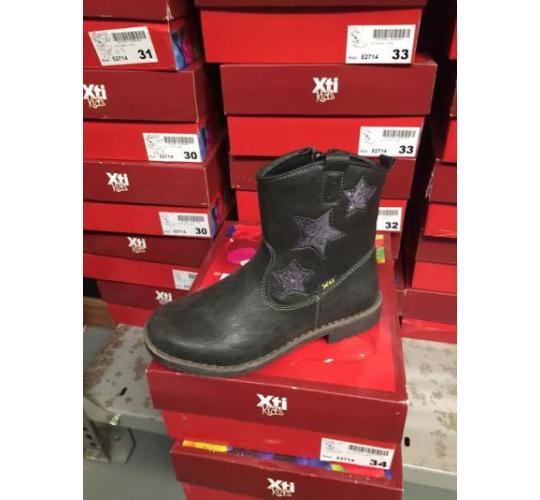 XTI Girls Grey Ankle Boots with Star Detail