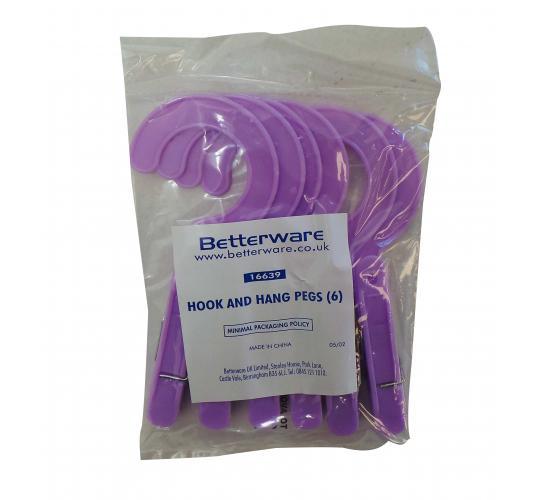 Wholesale Joblot of 72 Packs of 6 Betterware Hook and Hang Pegs