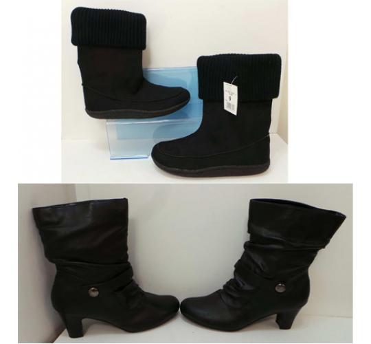 One Off Joblot of 10 Pairs of Ladies Boots 2 Styles Heels & Comfortable Ones