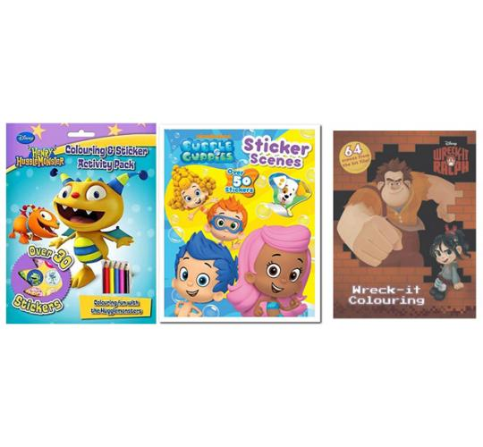 Wholesale Joblot of 144 Childrens Activity Packs Colouring & Stickers