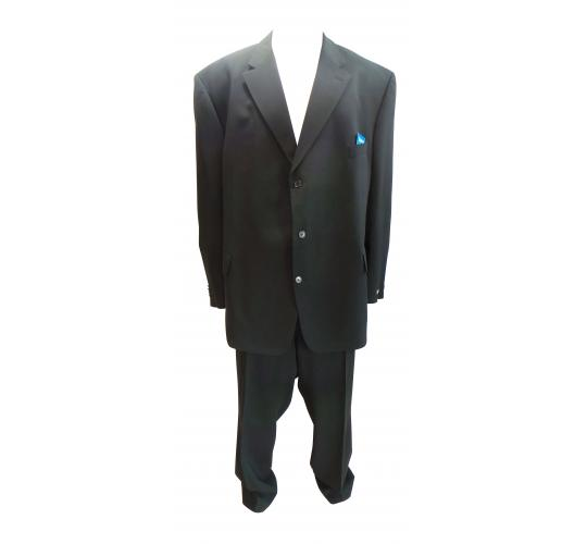 One Off Joblot of 5 Mens Odermark Professional Black Suits Plus Size 60-74