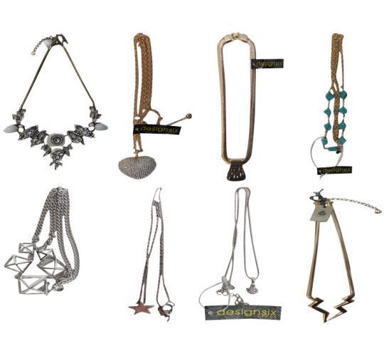 Wholesale Joblot of 50 Assorted DesignSix Designer Necklaces
