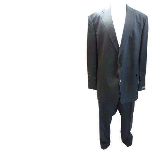 One Off Joblot of 5 Mens Odermark Stripe Suits Navy & Black Plus Size