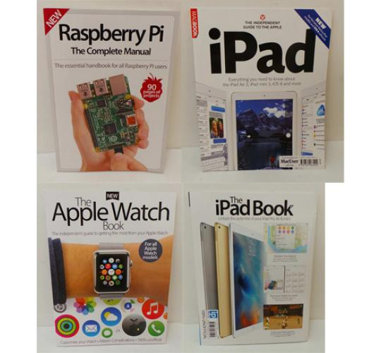 One Off Joblot of 58 Technology Magazines & Guides Raspberry Pi Apple Watch iPad
