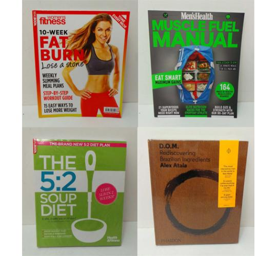 Joblot of 18 Food & Fitness Magazines/Books Men's/Women's Health Cooking Books