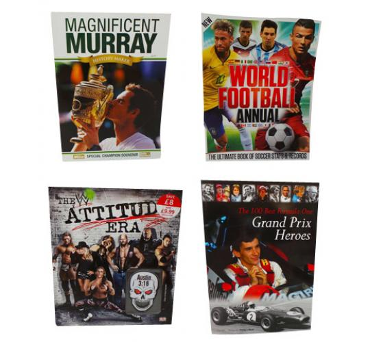 One Off Joblot of 21 Sports Books Tennis F1 Football and WWE 4 Titles
